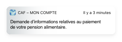 Notif CAF parents séparés