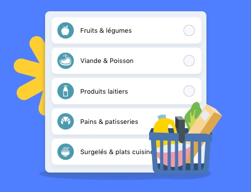 produits listes de courses